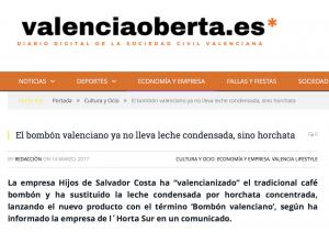 Noticia valenciaoberta.es café bombón de horchata