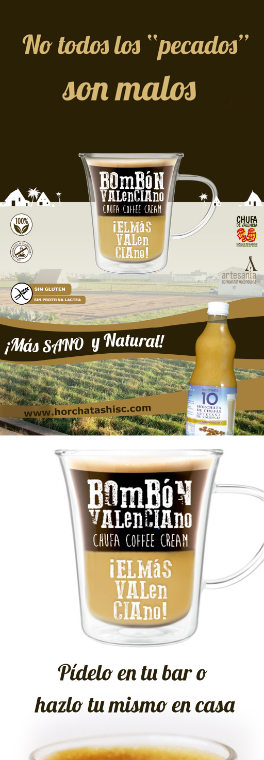 Bombón valenciano horchata concentrada horchata condensada cafe